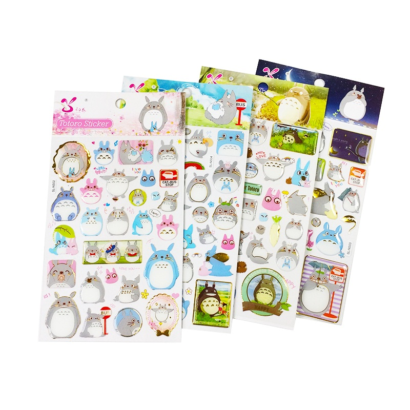 1 Sheet/pack Cute Gilding Crystal Stickers For Kids Home Decor Laptop Sticker Decal Fridge Skateboard Toy Stickers