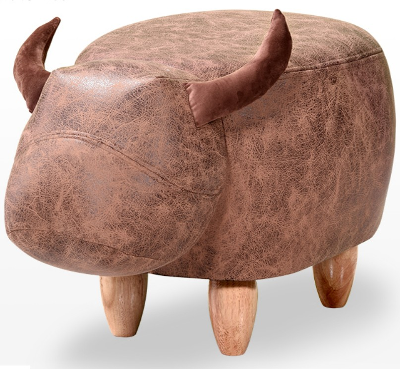 2018 New rhinoceros Animal Stool kids Cow Elephant Ottoman 60*32*40cm Small Children Storage Footstool PU Living Room Chair C140 ...