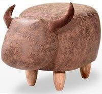 2018 New rhinoceros Animal Stool kids Cow Elephant Ottoman 60*32*40cm Small Children Storage Footstool PU Living Room Chair C140