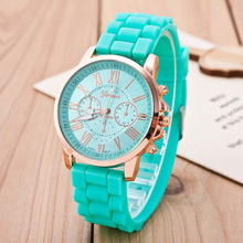 цены Hot Sales Geneva Brand Silicone Women Watch Ladies Fashion Dress Quartz Wristwatch Female Watch Clock relogio feminino kol saati