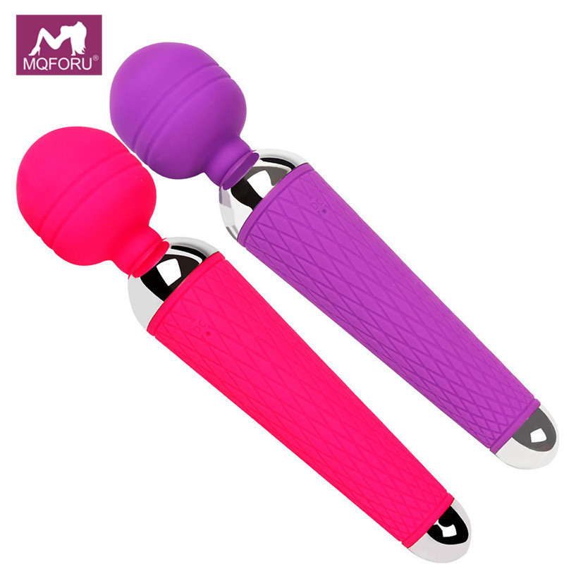 MQFORU Gode Vibrateurs pour Femmes Sex Toys Clitoris Stimulateur Masseur USB AV Magic Wand G-spot Vibrateur Adulte Clitoris masturbateur
