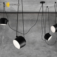 Nordic DIY creative Personality Cord Chandeliers restaurant cafes modern indoor lights clothing store LED Art drums pendant lamp