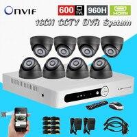 16CH CCTV DVR enregistrement en temps réel Jour Nuit 600tvl de Sécurité Caméra de Surveillance Vidéo Système DIY Caméra kit 16 ch CK-212