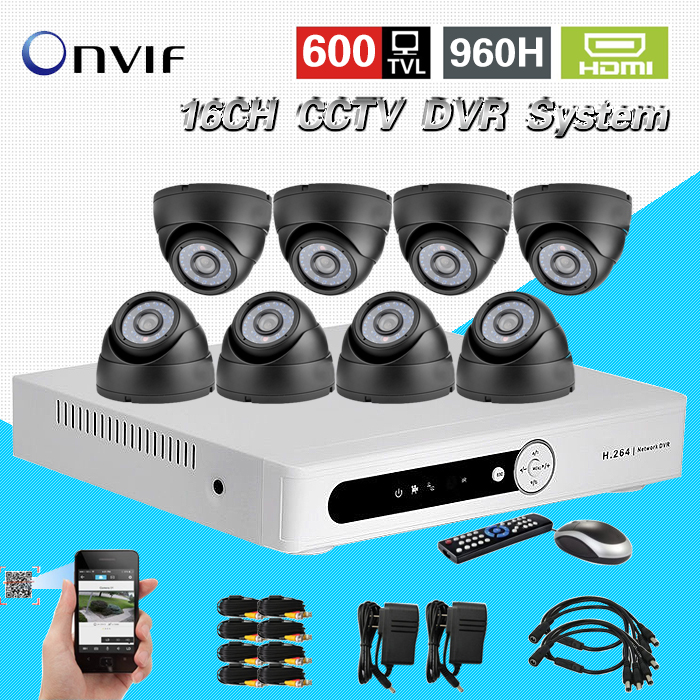TEATE 16CH CCTV DVR realtime recording Day Night Security 600tvl Camera Surveillance Video System DIY Camera kit 16 ch CK-212 home cctv surveillance system 16 channel dvr recording with 16pcs 700tvl dome security camera system cctv dvr kit 16ch ck 206