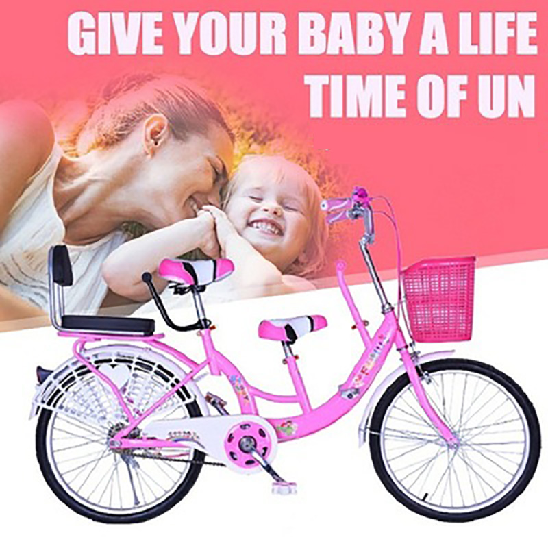 Two-Person 22-Inch Bike Mother And Child Bike Women's Mother And Child Bicycle Can Bring 2 Children