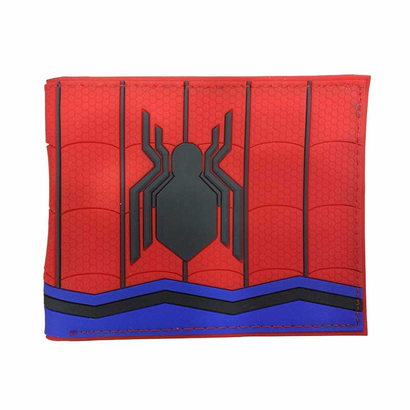 2018 Brand New Wallet PVC Red Color Spider Man Purse for Male Men Famous Cartoon Anime Fashion Wallets Spiderman Gifts Money Bag цена