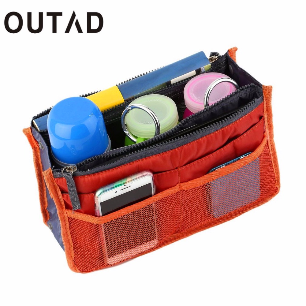 Portable Waterproof Nylon Storage Bags Women Multifunctional Cosmetic Makeup Bags Travel Organizers Insert Handbags DropShipping