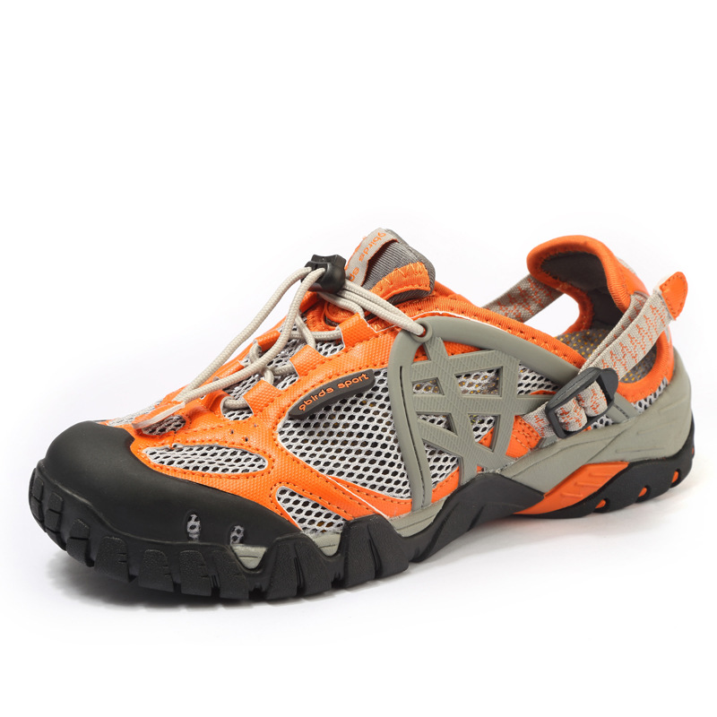 Mens Leather Waterproof Walking Shoes