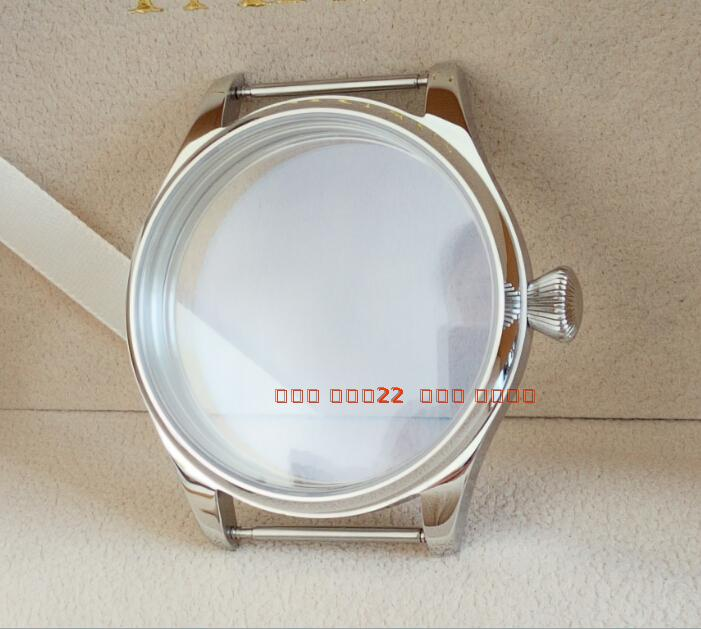parnis 44MM 316L stainless steel watch case fit 6497/6498 Mechanical Hand Wind movement 04a 44mm 316l steel parnis watch case fit 6498 6497 eat movement c35