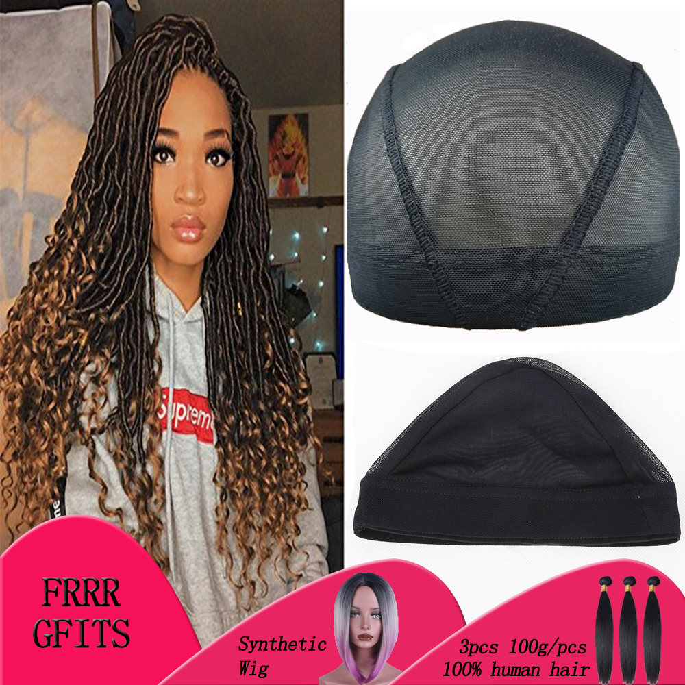 5pcs-10pcs Fashion Stretchable Black Weaving Cap Elastic Band Nylon Mesh Net Dome Style Mesh Wig Cap For Making Wigs Sew In Hair buttoned closure back cut and sew cap sleeve top