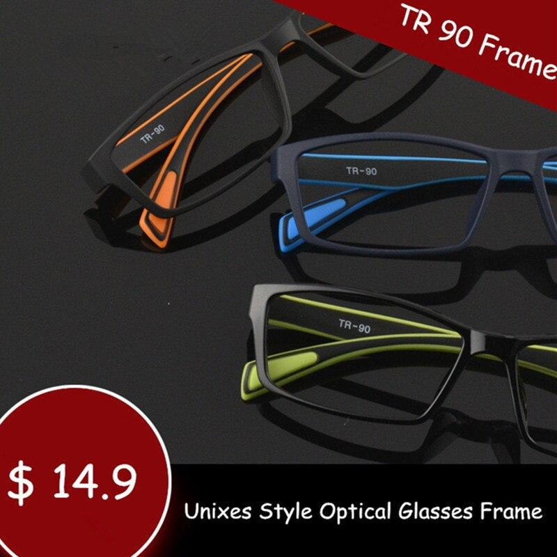 Chashma Brand Light TR 90 Eyewear Optical Glasses Frames Women Black Eye Glasses Flexible Sport Stylish Eyeglasses Mens 17 g