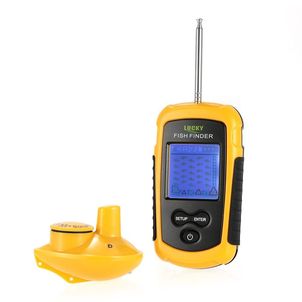 Lucky fffw1108 1 wireless fish finder sonar sensor for Wireless fish finder