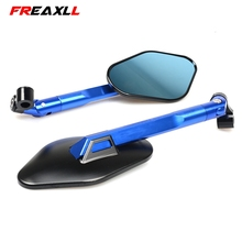 Universal 1 pair Motorcycle Mirror Side Rearview Motorcycle Accessories For YAMAHA YZF R1 R6 2005 2006 2007 2008 2009 r3 sticker все цены
