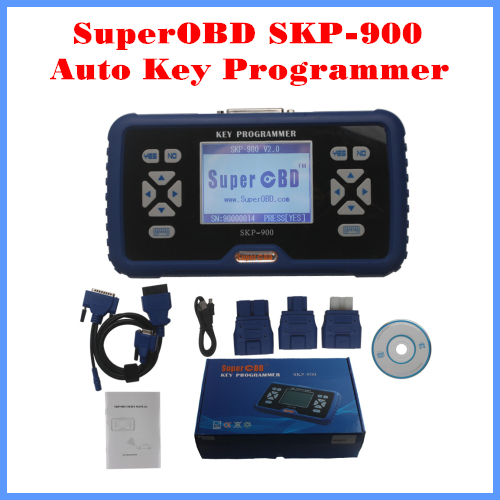 Powerful Auto Key Programmer SuperOBD SKP-900 Hand-held OBD2 SKP900 V4.5 NO Tokens Life-time Free Update Online Free Shipping smart phone wifi app remote control wet