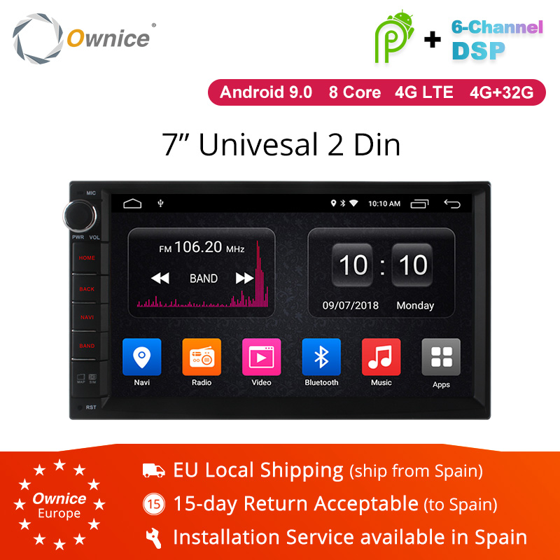 Ownice K3 K5 K6 Android 9.0 Octa 8 core Radio 2 DIN 4GB RAM 64GB ROM universelle GPS Radio WiFi Support 4G LTE réseau DAB + pas de DVD