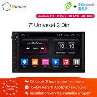 Ownice K1 K2 K3 Android 9.0 Octa 8 core Radio 2 DIN 2GB RAM 32GB ROM Universal GPS Radio WiFi Support 4G LTE Network DAB+ No DVD
