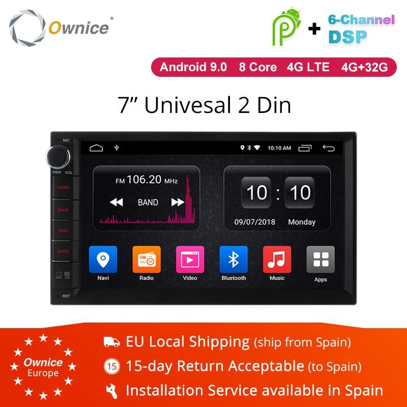 Ownice K3 K5 K6 Android 9,0 Octa 8 Core Radio 2 DIN 4GB RAM 64GB ROM GPS Universal Radio WiFi De Apoyo En La Red 4G LTE DAB + No De DVD