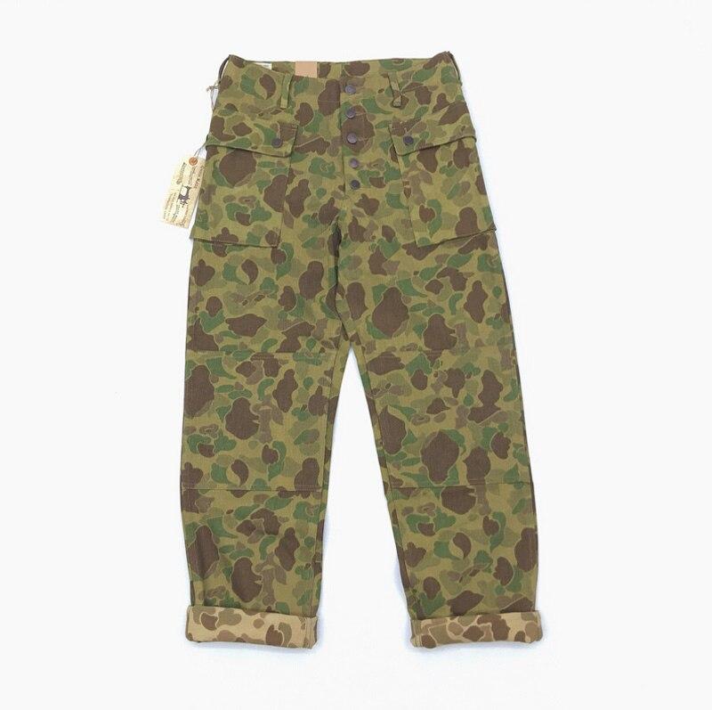 Bob dong replica p44 남성용 바지 13.7oz 데님 원단 미 육군 군사화물 바지 duck hunter camouflage army bottoms-에서카고팬츠부터 남성 의류 의  그룹 1