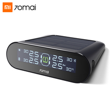 Xiaomi 70mai TPMS Tire Pressure Monitoring System English APP Solar Power LCD Display Car Security Alarm Tyre Pressure Sensor