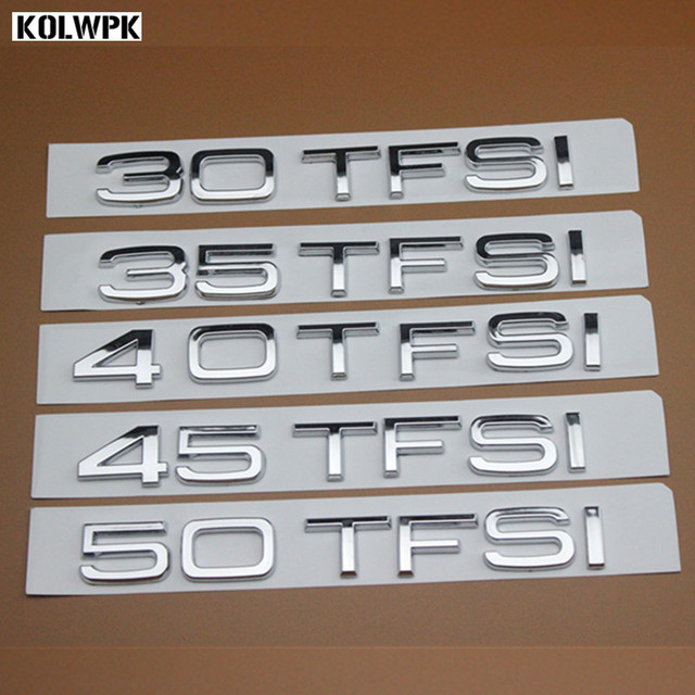 New car styling high quality abs car emblem rear number letter sticker for audi 30tfsi 35tfsi