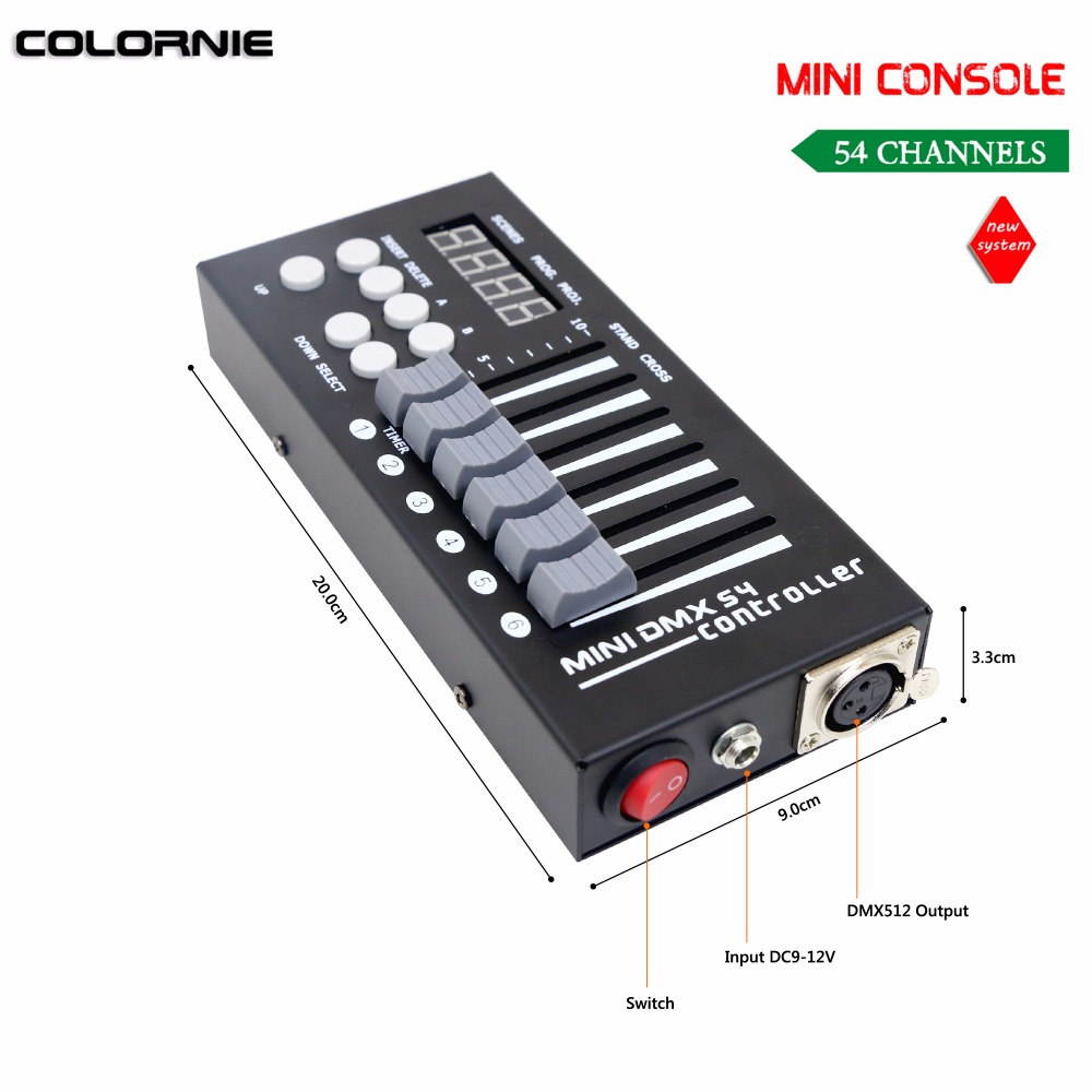 Mini 54CH DMX Controller Konsol LED Tahap Pencahayaan DJ Controller - Pencahayaan komersial - Foto 3