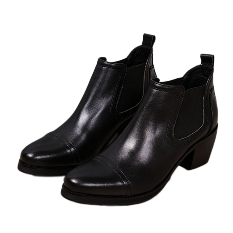 Batzuzhi 6.8cm High Heels Boots Men Formal Soft Leather Boots Short Gentlemen Dress Boots Party and Business Botas, Size 38-46Batzuzhi 6.8cm High Heels Boots Men Formal Soft Leather Boots Short Gentlemen Dress Boots Party and Business Botas, Size 38-46