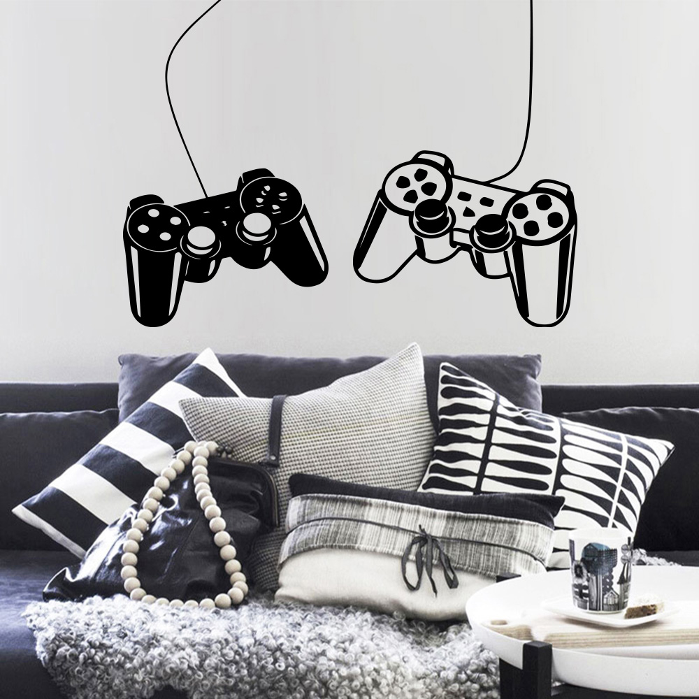 Creative Video Game Sticker vinyl Wall Decals For Kids Room Nursery boys gamer Room Decor Art Mural play Decal Gaming Poster