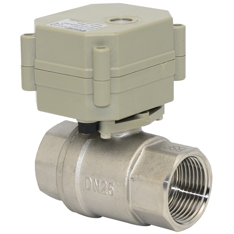 ФОТО Free shipping  DN25 DC5V 5 wires TF25-S2-C Automatic Ball Valve Full Bore Valve SS304 NPT/BSP 1'' With Signal Feedback