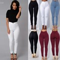 2016 New Arrival Women Fashion Casual High Waist Stretch Skinny Slim Pencil Pants Trousers Woman's Clothing