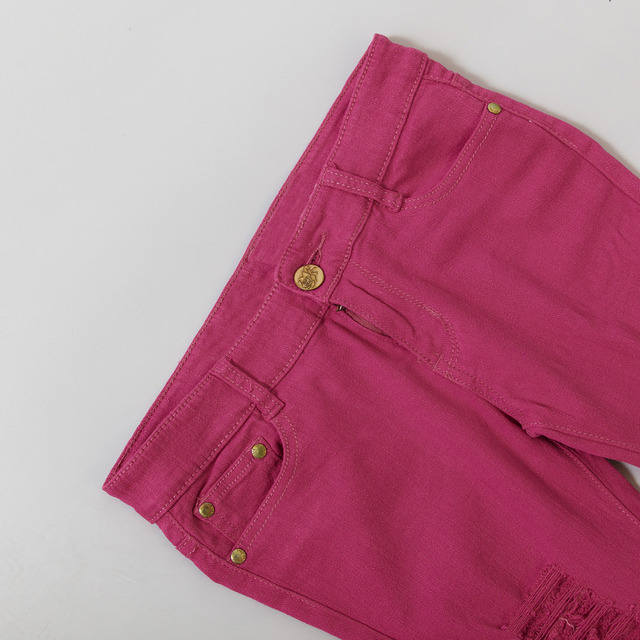 Ripped Candy Pants Pencil Trousers 3