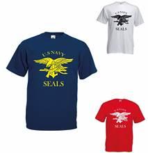 Футболка с морскими котиками США Мужские футболки в стиле ретро