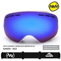 NANDN SNOW ski goggles men women double layers UV400 anti fog big ski mask glasses skiing snow snowboard goggles