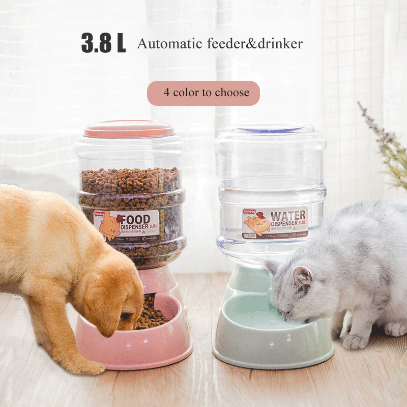 Pets Water Dispenser Automatic Feeders For Cats And Dogs Food Bowl Cats Products For Plastic Water Fountain Pet Supplies