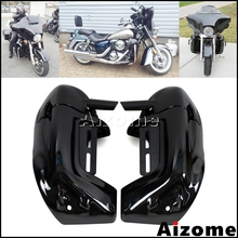 Motorcycle Lower Vented Leg Fairings Glove Box For Harley Touring Road King Street Glide Electra Glide Ultra Classic 1983-2012