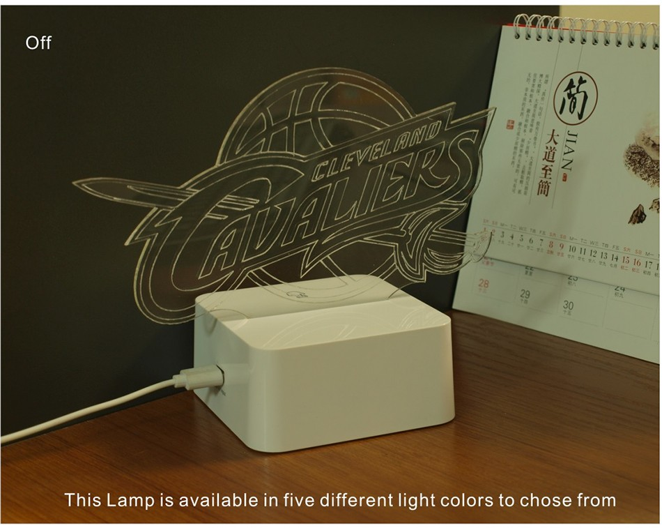USB Novel Lamp NBA 3D LED Night Lights as Home Bedroom Decorative Besides Lampara for Cavalier Team (3)