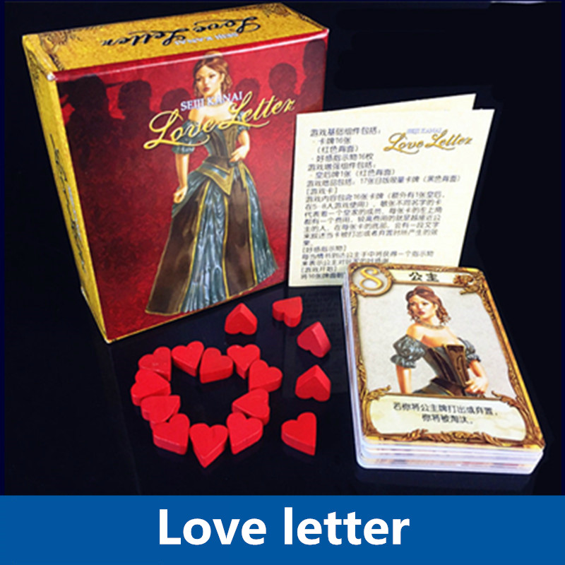 2017 Updated version love letter English board game for 3 players kids family fun playing cards game
