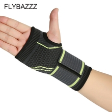 FLYBAZZZ New Elastic Wrist Support Gym Weightlifting Training Weight Lifting Gloves Bar Grip Barbell Straps Wrap Hand Protection oem gym weight lifting leather xrossfit training barbell pull up hand grip workout sport bodybuilding fitness hand gloves