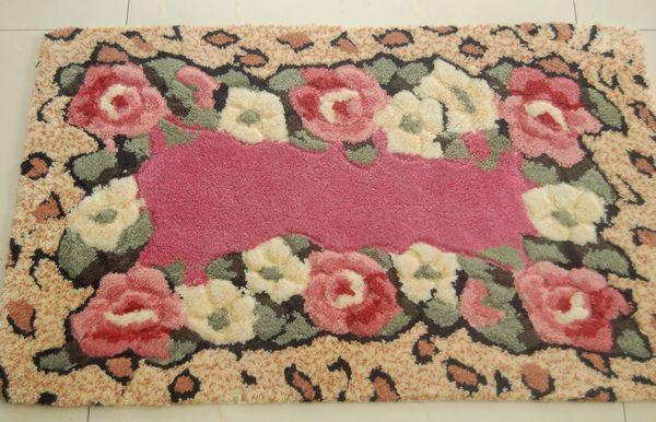 Tapis de maison rustique tapis antidérapants pvc paillasson tapis de bain tapis de balcon 04