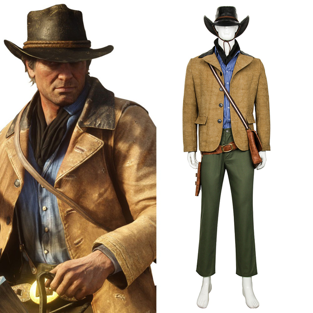 Game Red Dead: Redemption 2 Arthur Morgan Cosplay Costume Outfit Full Suit  Halloween Carnival Cosplay Costumes Custom Made