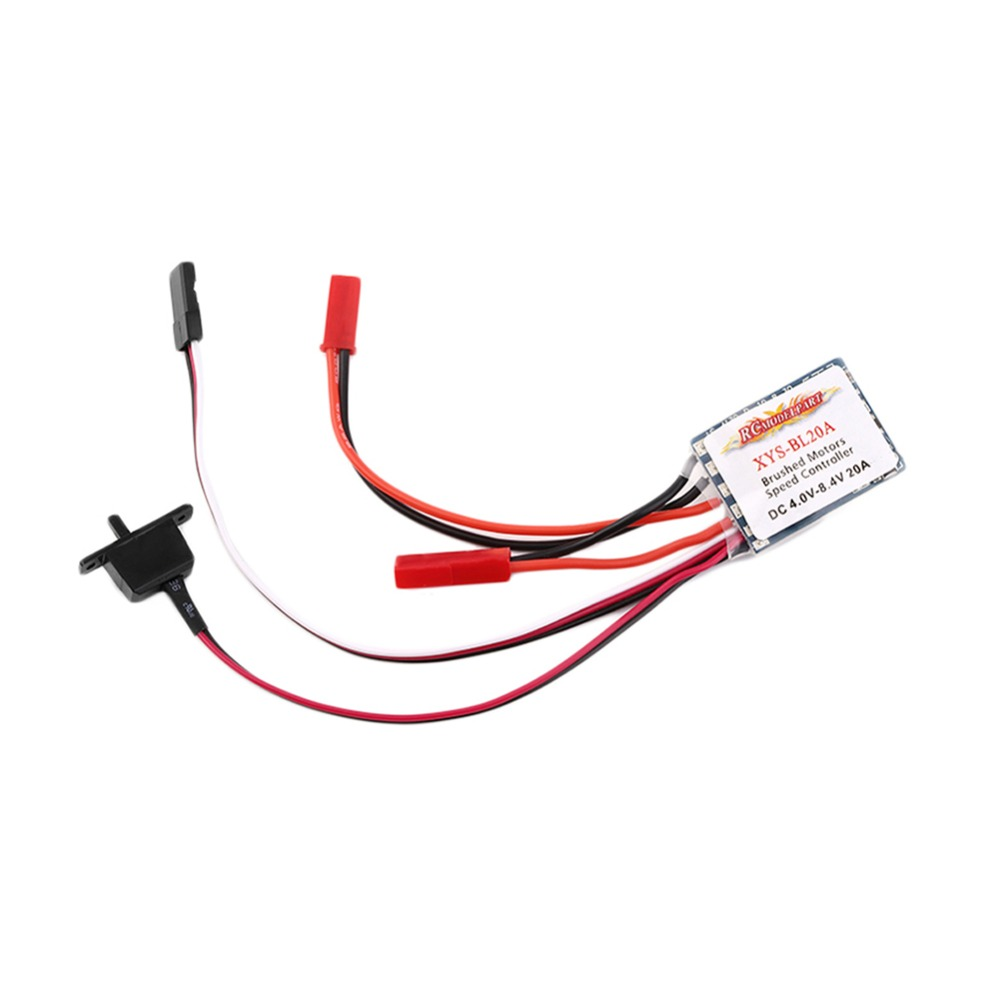 20A Brushed ESC Speed Motor Controller With Brake For 1 16 1 18 Car Boat