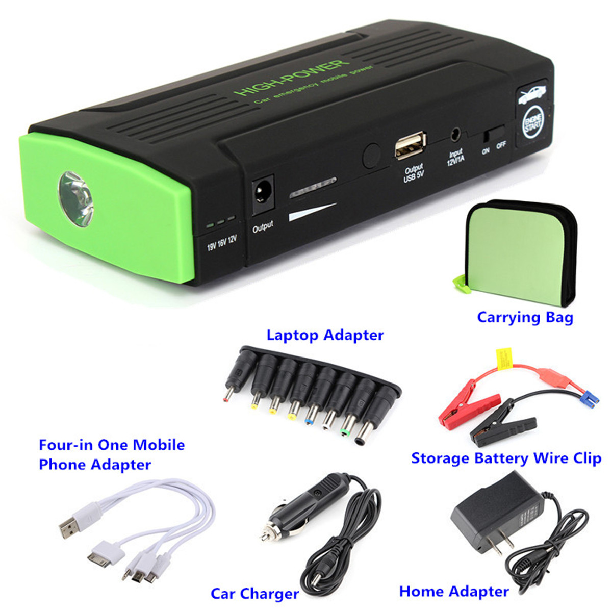 Multifunction Jump Starter 30000mAh 12V/16V/19V 400A Portable Power Bank Car Battery Booster Charger Starting DeviceMultifunction Jump Starter 30000mAh 12V/16V/19V 400A Portable Power Bank Car Battery Booster Charger Starting Device