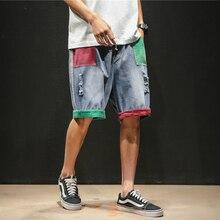 New Fashion Casual Mens Hole Short Jeans Brand Clothing Summer Cotton Shorts Breathable Denim Pantalones Cortos Hombres