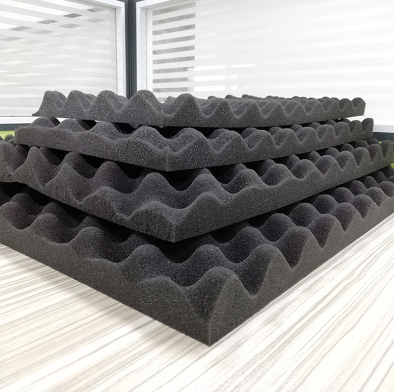 10Pcs Acoustic Sound Treatment Absorption Wedge Tile Soundproofing Foam Studio 300*200*15mm Egg Sponge For Tool Box