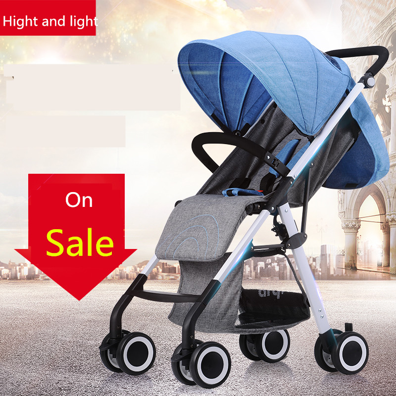 babyfond light baby 4.9kg Four colors high view baby stroller umbrella car light summer baby child trolley folding baby car 4 6kg baby sleeping 180 degree light folding portable ultra light baby car umbrella two way summer child trolley baby stroller
