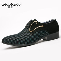 Whoholl Big Size 38 46 Fashion Men Dress Shoes Pointed Toe Lace Up Men S Business
