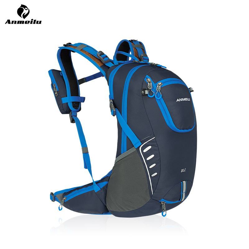 ANMEILU Waterproof Bicycle Backpack 20L MTB Bike Cycling Hiking Hydration Backpack Climbing Sports Bag With Rain Cover, No Water anmeilu 18l waterproof bicycle backpack cycling bike sport bag outdoor camping hiking climbing bag with rain cover no water bag