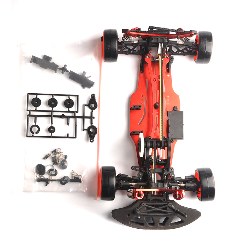 1/10 Aluminum alloy and Carbon 4WD RC Drift Car Kit On Road RC Racing Car Carbon Fiber Shaft Drive Frame Kit 1 10 scale rc drift frame kit 4wd 646801r1 rc body drift racing car