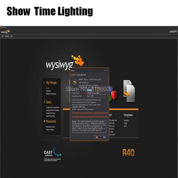 2019 najnowsza wersja światła sceniczne pokaż budowniczy oprogramowania WYSIWYG uwolnienia R40 pęknięcia klucza Emulator klon USB tanie i dobre opinie SHOW TIME ST-R40 Stage lighting effect Dmx etap światła 15 w Profesjonalne stage dj WYSIWYG Release 40 Bulid the stage