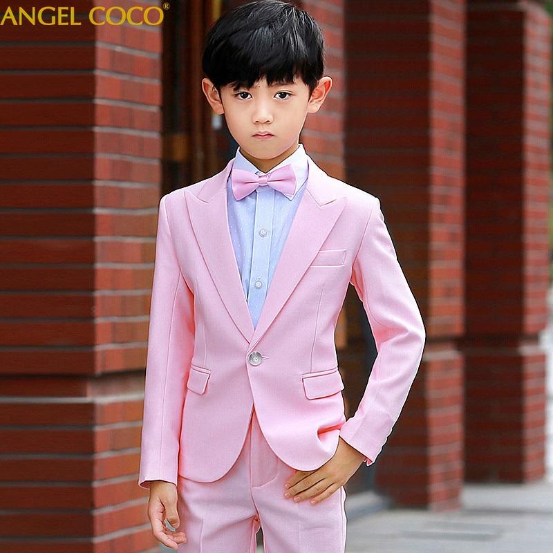 Hohe Qualität Kinder Anzug Neuer Frühling Und Herbst Koreanischen Jungen Anzug Anzug Student Kostüme Kinder Hochzeit Blumenmädchen Kleid Junge Anzüge & Blazer