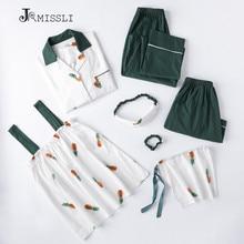 JRMISSI, женские пижамные комплекты, 7 шт., Хлопковая пижама, домашняя одежда, домашняя одежда, пижама для сна
